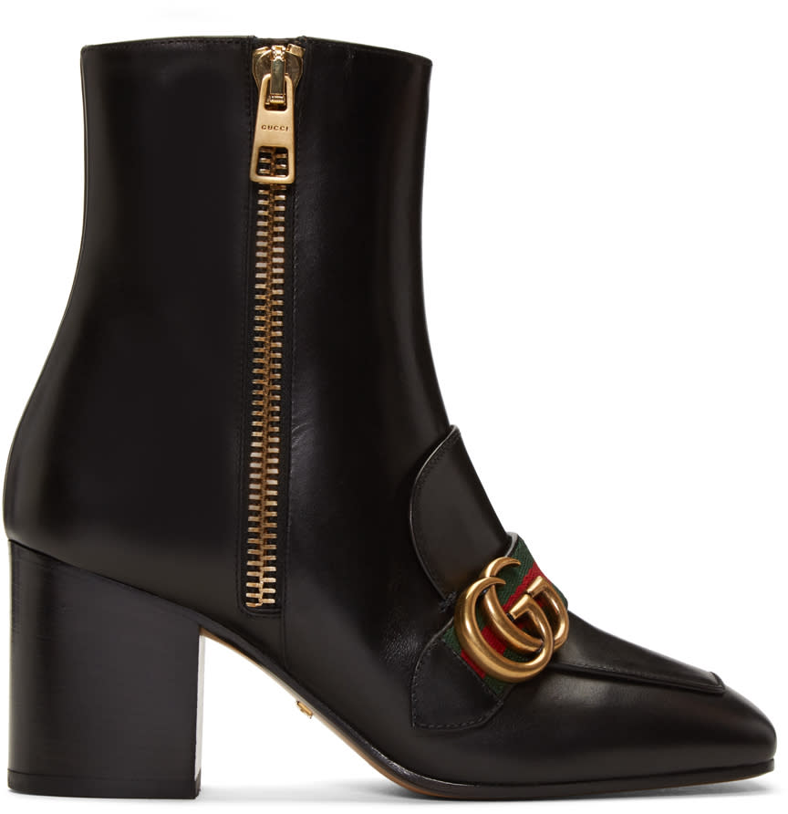gucci female 188971 gucci black peyton logo boots