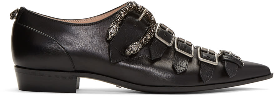 Gucci Black Susan Monkstraps