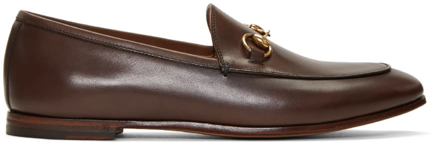 Gucci Brown Jordaan Loafers