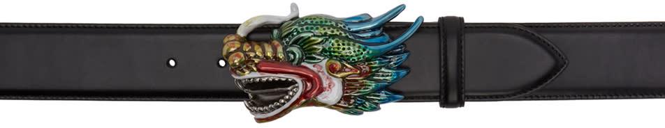 Gucci Black Dragon Head Belt