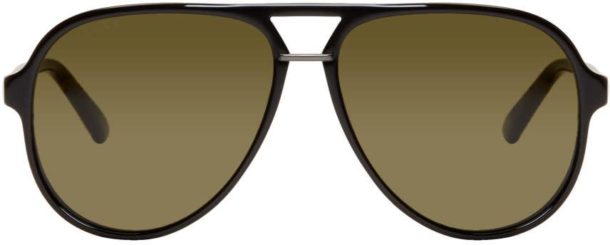 ffc5de84cee Gucci Black Pilot Aviator Sunglasses