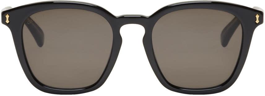 Gucci ブラック オピュレント ラグジュアリ スクエア サングラス