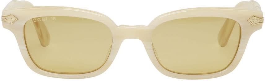 Gucci Beige Vintage Sunglasses