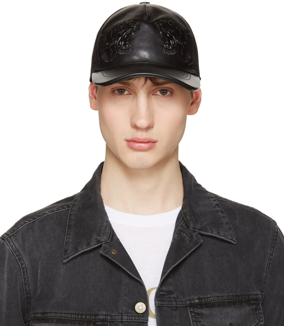gucci male gucci black tiger baseball cap