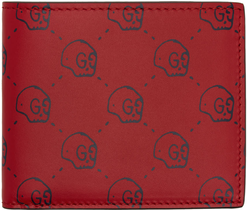 gucci male gucci red gucci ghost wallet