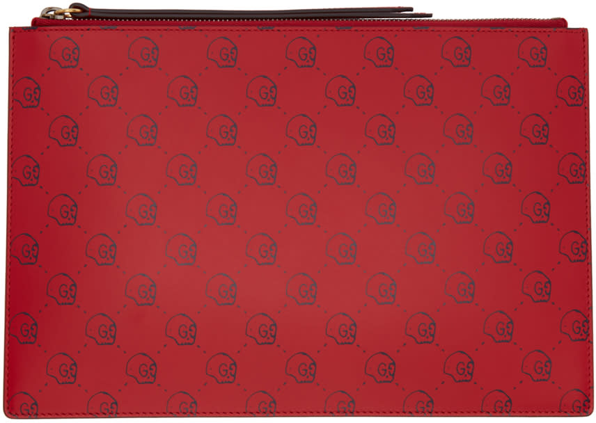 Gucci Red Guccighost Pouch