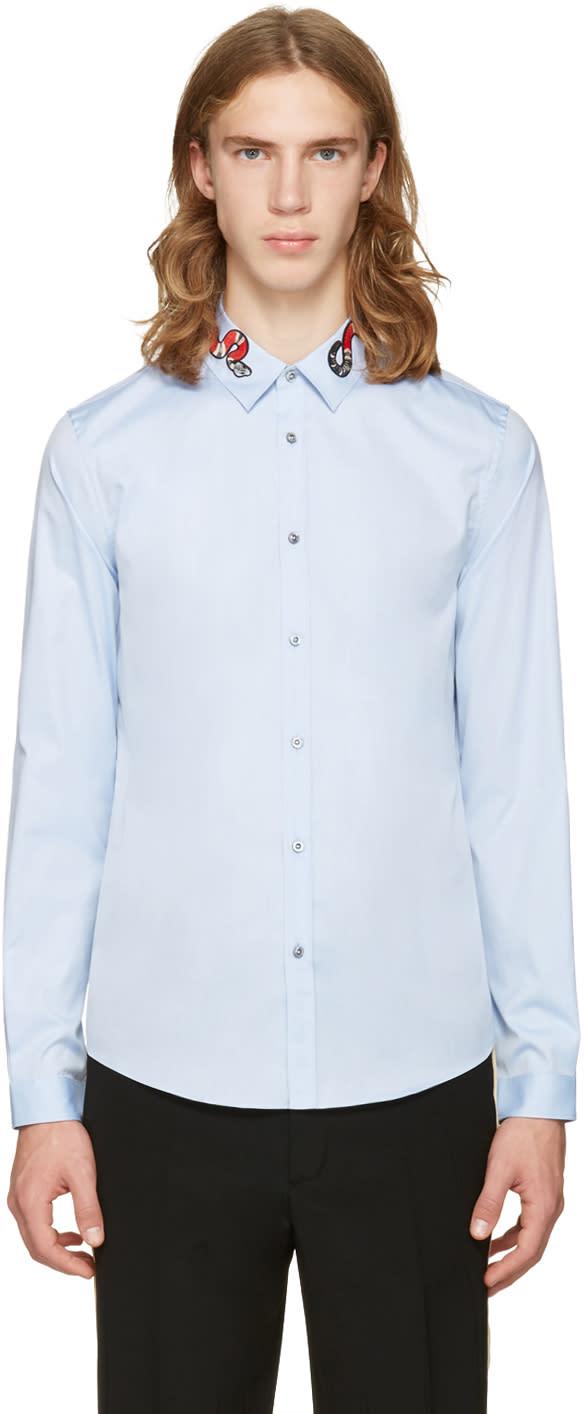 gucci male 201920 gucci blue snake duke shirt
