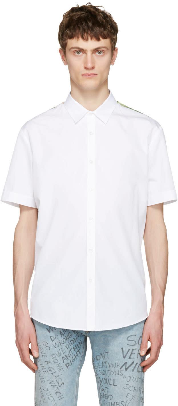 Gucci White Silk Panel Shirt
