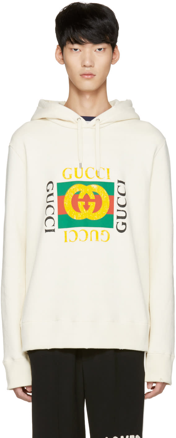 Gucci Off-white Felted Hoodie