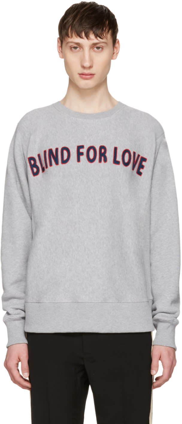 Gucci Grey blind For Love Pullover
