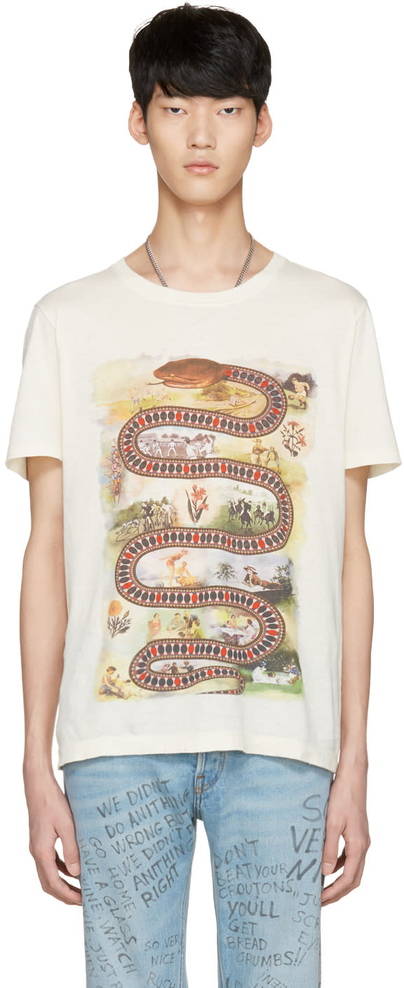 Gucci Off-white Snake Road T-shirt