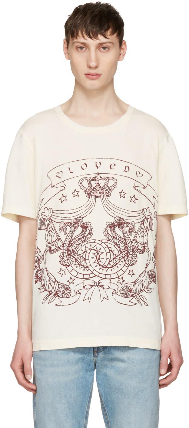 Gucci Ivory loved Logo T-shirt