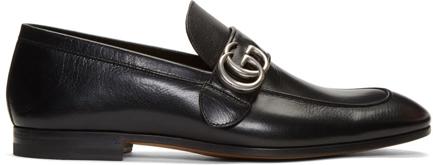 gucci male gucci black donnie loafers