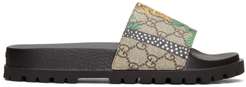 Gucci Brown Pursuit Trek Bengal Sandals