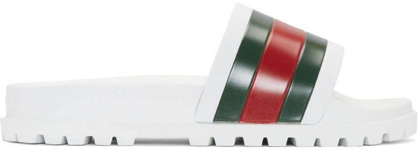 Gucci Tricolor Pursuit Trek Stripes Sandals