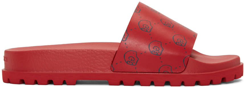 Gucci Red Gucci Ghost Pursuit Trek Sandals