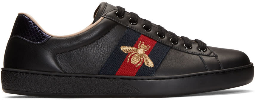 Gucci Black New Ace Bee Sneakers