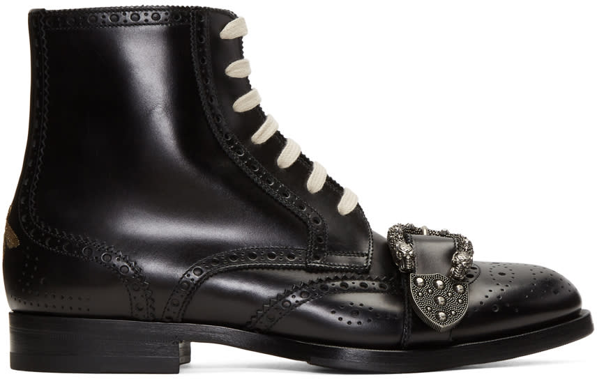 gucci female gucci black queercore boots