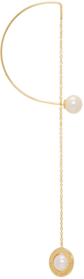 Image of Delfina Delettrez Gold Abc Fishing For Compliments Earring