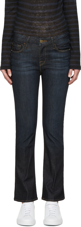 Frame Denim Indigo Le Crop Mini Boot Jeans