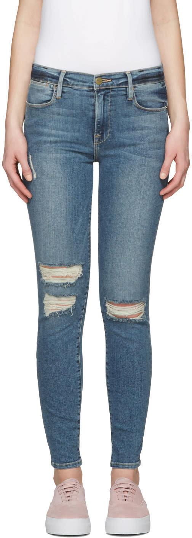 Frame Denim Indigo Le High Skinny Jeans