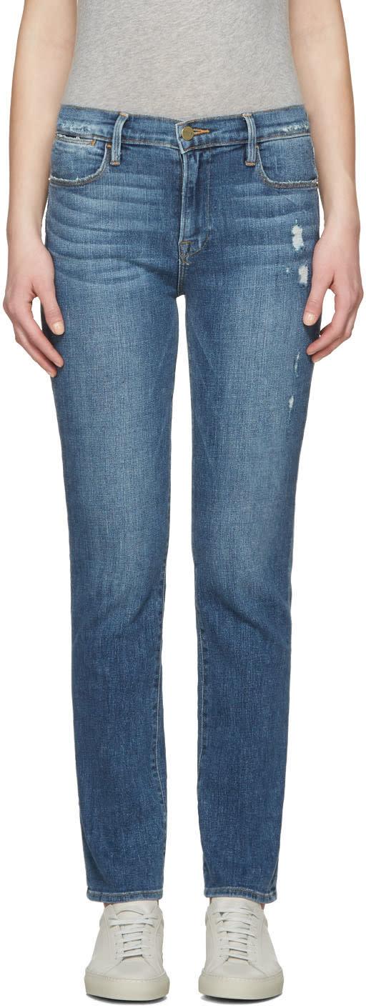Frame Denim Blue Le High Straight Jeans