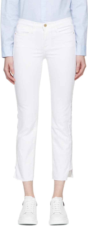 Frame Denim White Le High Straight Jeans