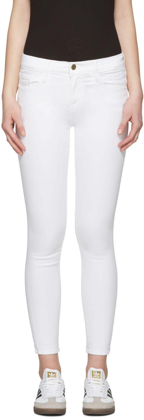 Frame Denim White Le Color Crop Jeans