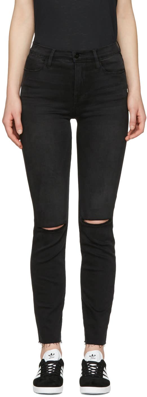 Frame Denim Grey Le High Straight Jeans