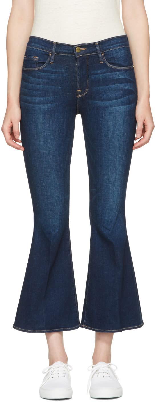 Frame Denim Indigo Le Crop Bell Jeans