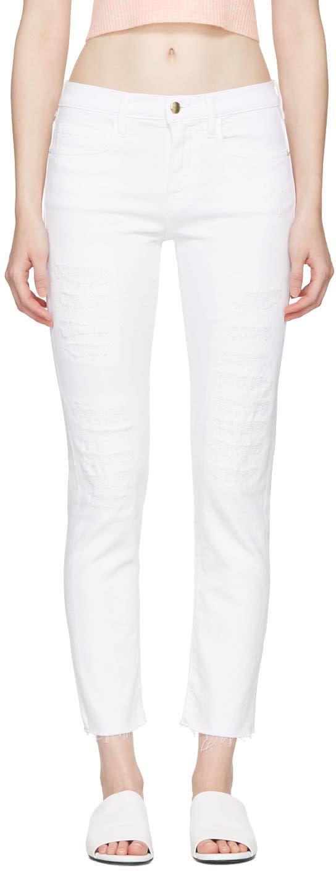 Frame Denim White le Boy Jeans