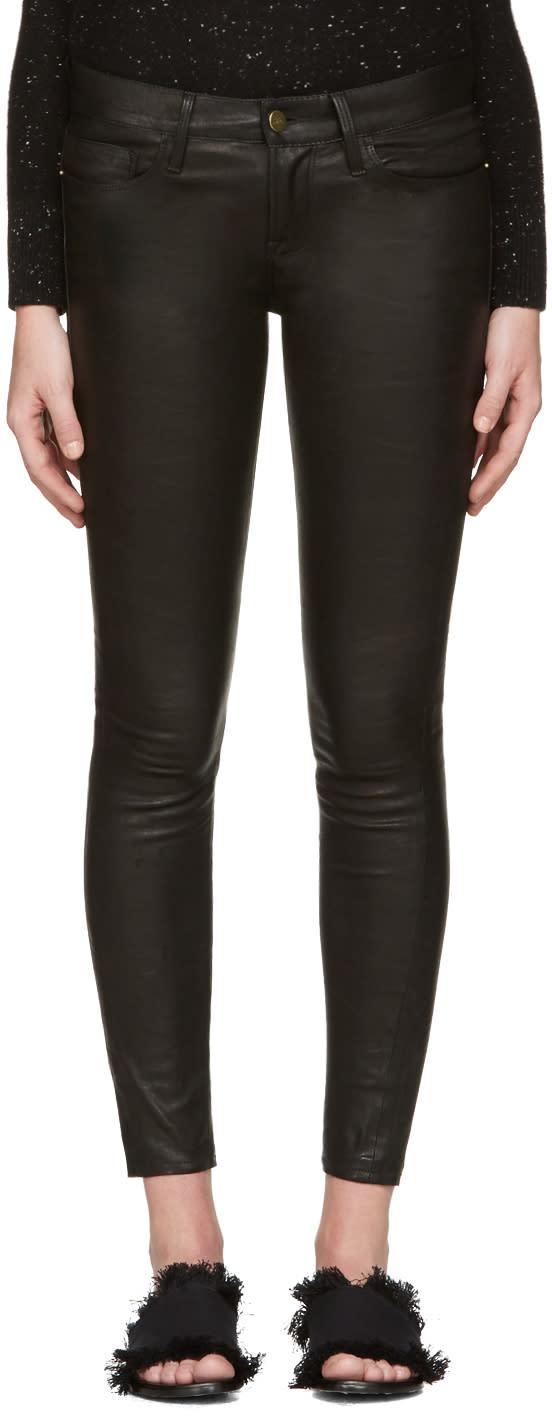 Frame Denim Black Le Leather Pants