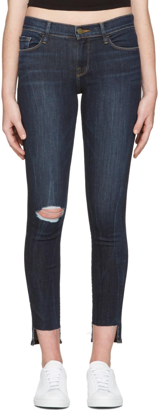 Frame Denim Indigo Le Skinny De Jeanne Jeans