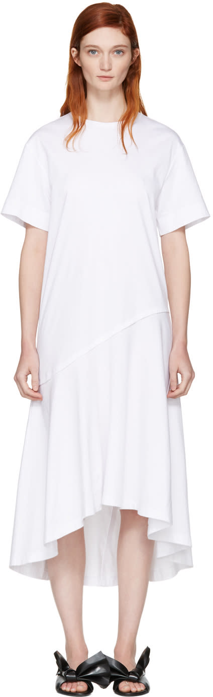 Cedric Charlier White T-shirt Dress