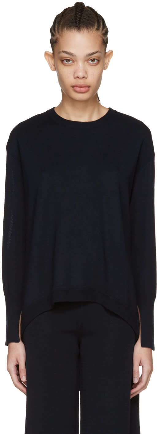 Cedric Charlier Navy Oversized Pullover