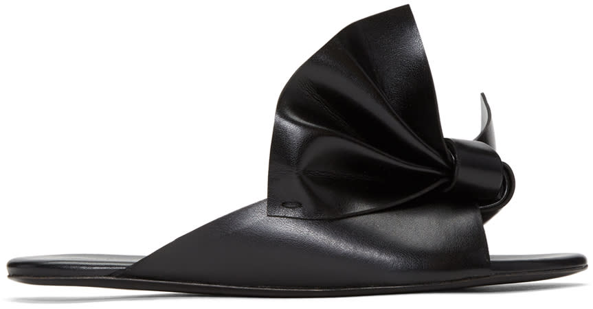 Cedric Charlier Black Bow Sandals