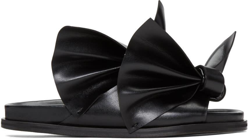 Cedric Charlier Black Bow Birks Sandals