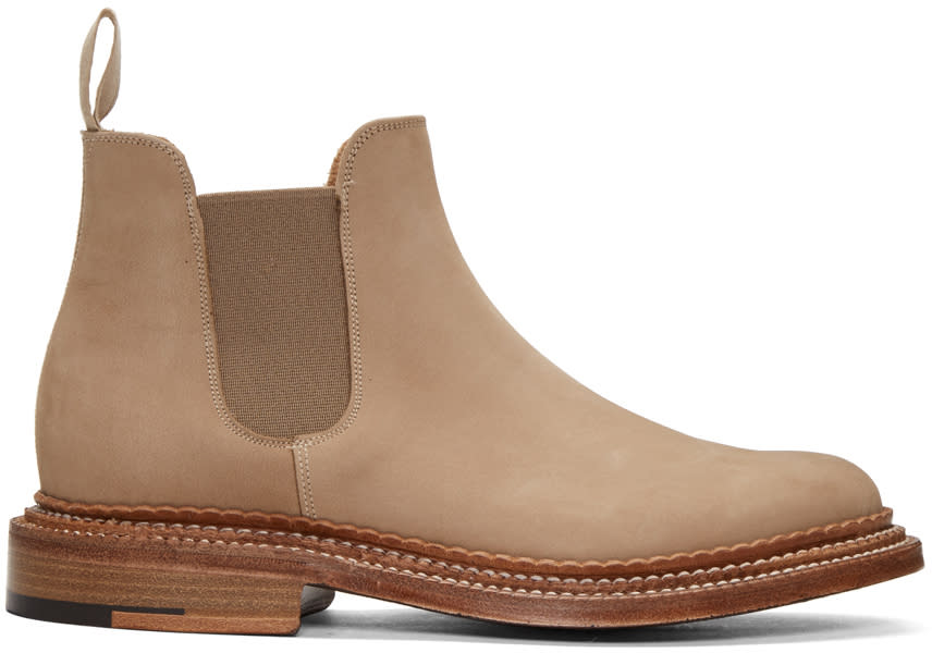 Grenson Beige Suede Christopher Boots