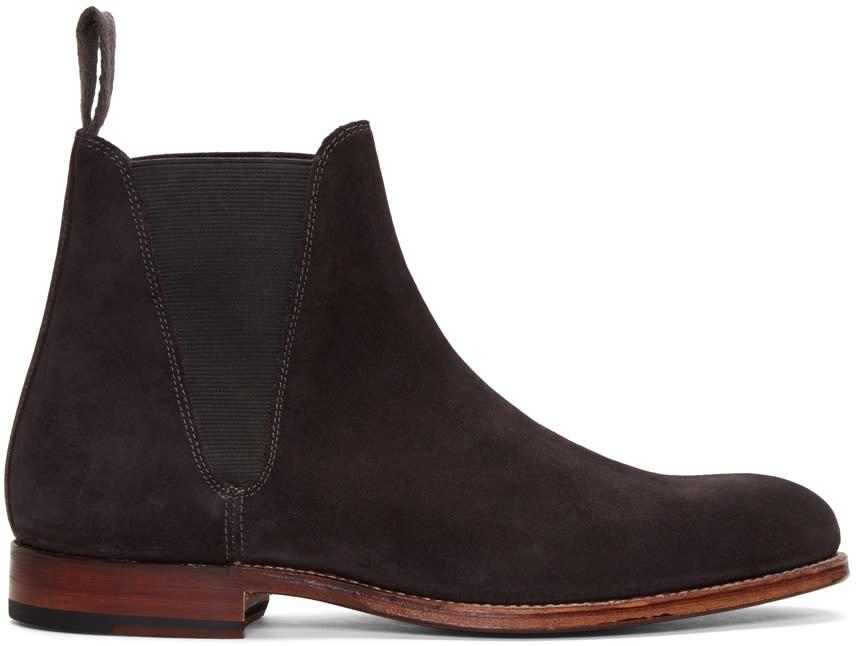 Grenson Grey Suede Nolan Boots