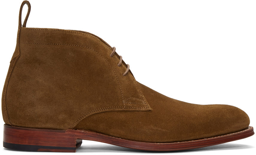 Grenson Brown Suede Marcus Boots
