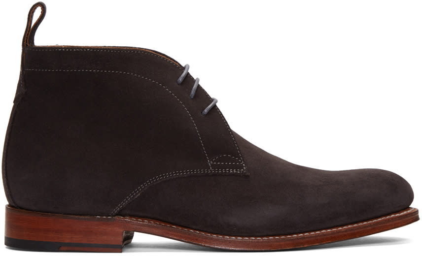 Grenson Grey Suede Marcus Boots