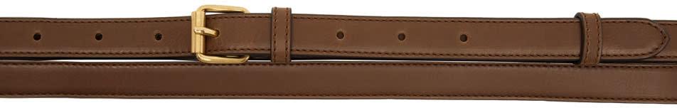 Stella Mccartney Brown Textured Belt