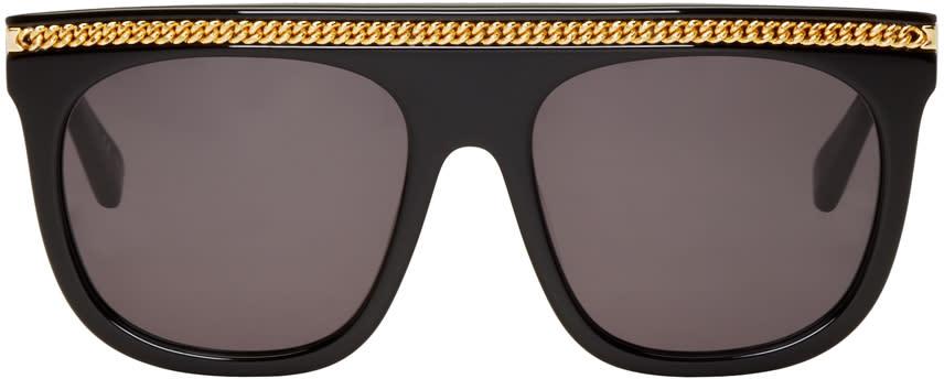 Stella Mccartney Black Falabella Flat-top Sunglasses