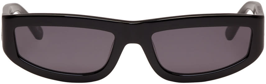Stella Mccartney Black Rectangular Slim Sunglasses