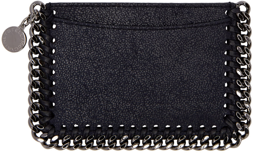 Stella Mccartney Navy Falabella Card Holder