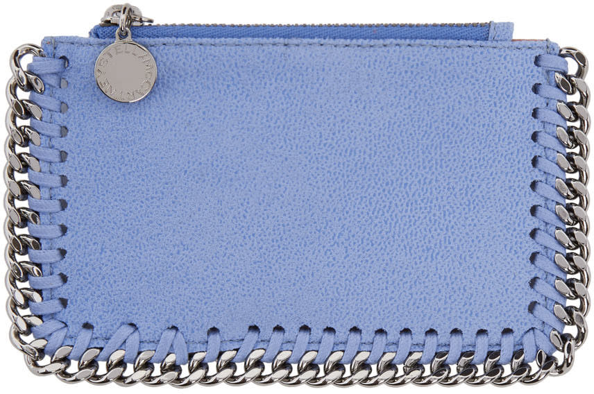 Stella Mccartney Blue Falabella Card Holder
