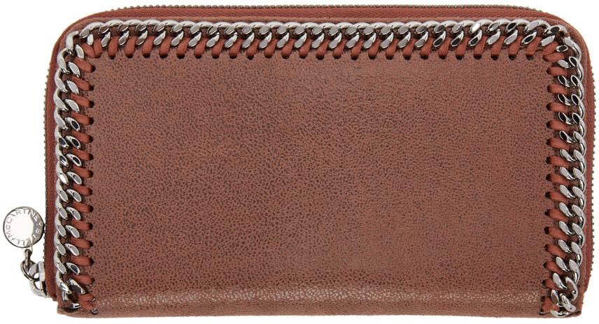 Stella Mccartney Brown Falabella Zip Wallet