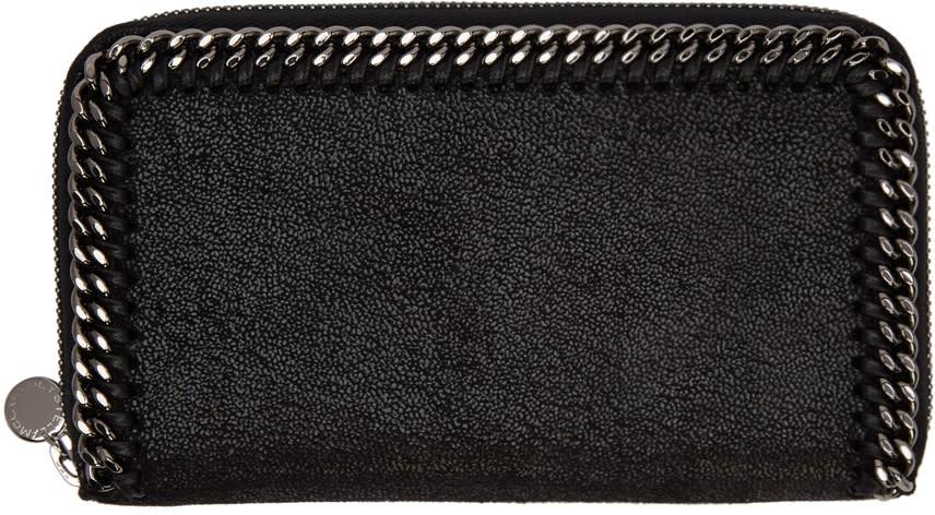 Stella Mccartney Black Falabella Zip Wallet
