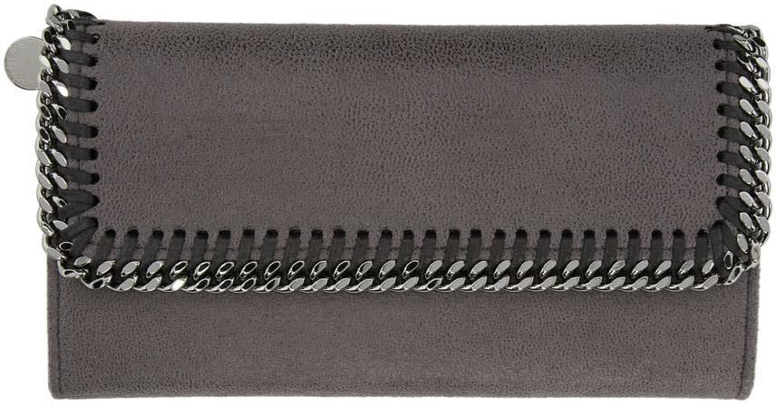 Stella Mccartney Grey Falabella Continental Flap Wallet