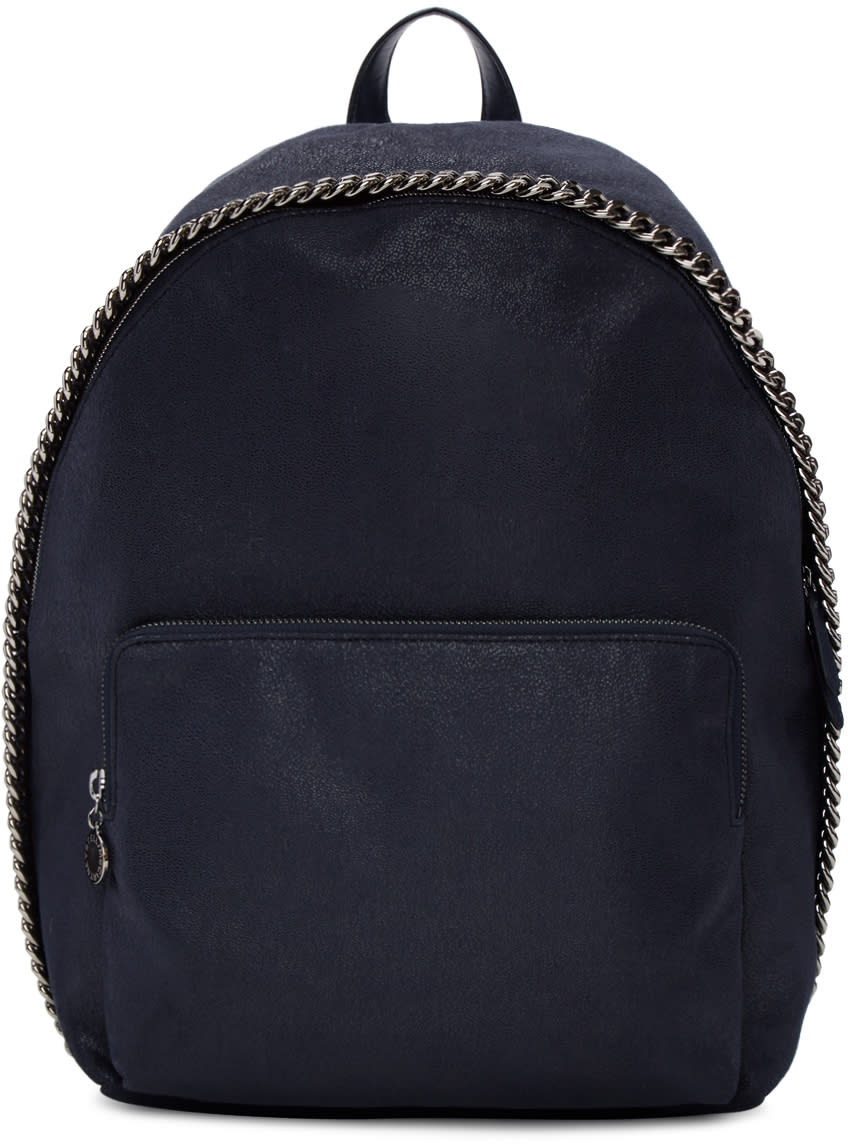 Stella Mccartney Navy Falabella Backpack
